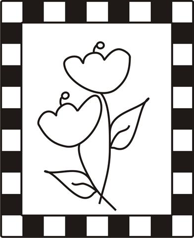 Desenhos Quadro Com Flores Colorir E Pintar Qdb