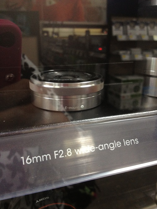 Here's the lens I am interested in buying. It is small and wide-angle which is fantastic for me because I do a lot of home DIY where I am trying to include shots of a room, etc. Plus the aperture is fantastic for low-light situations.