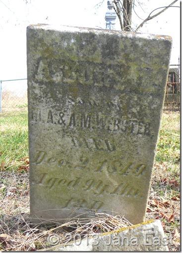 Asbury Bateman Webster Tombstone