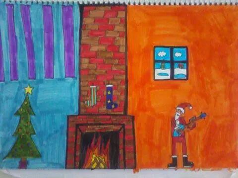 Παιδική ζωγραφιά για τα Χριστούγεννα