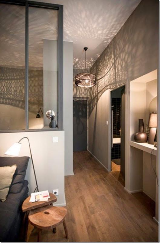 Piccoli spazi monolocale in grigio case e interni for Appartamento design industriale