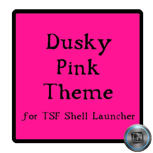 Dusky Pink TSF Shell Theme LOGO-APP點子