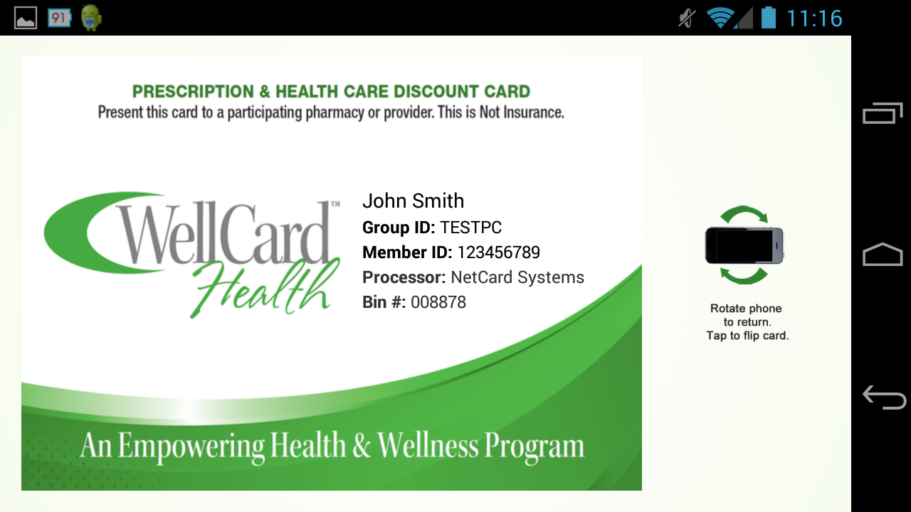 WellCard Health- screenshot