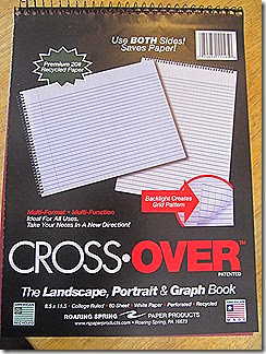Roaring Spring Cross Over Notebook---review at Homeschooling Hearts & Minds