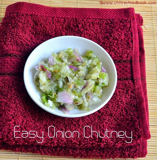 Easy onion chutney