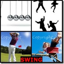 SWING- 4 Pics 1 Word Answers 3 Letters