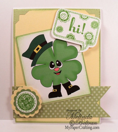 close to my heart st patricks card-500