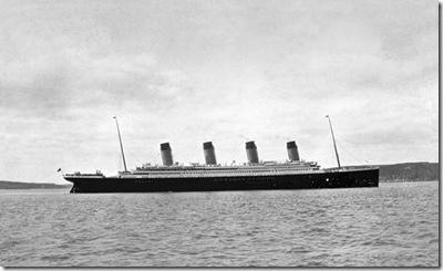 Titanic Dropping Anchor at Queenstown(Cobh)