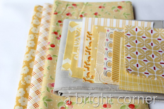 full stack of yellow fabric