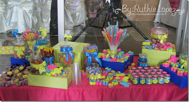 Bautizo - 1st Birthday Butterfly Themed - Butterfly Candy Bar - Baptism - Ruthie Lopez 3