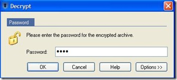 Sophos Free Encryption password per la decriptazione di file e cartelle