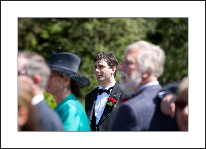 groom in outdoor wedding scotland