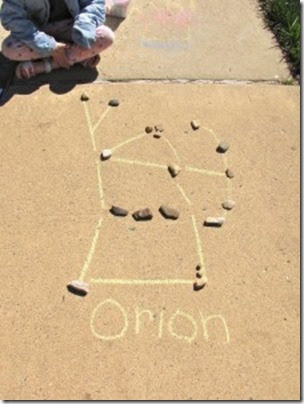 Driveway Rock Constellations from Creekside Learning