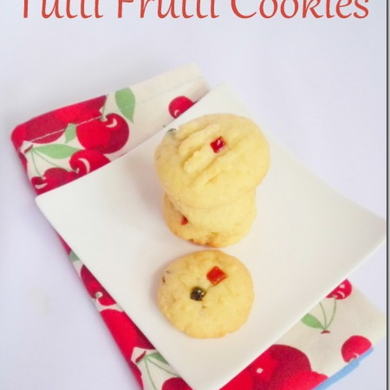 Eggless Tutti Frutti Cookies | Icebox Cookies Recipe