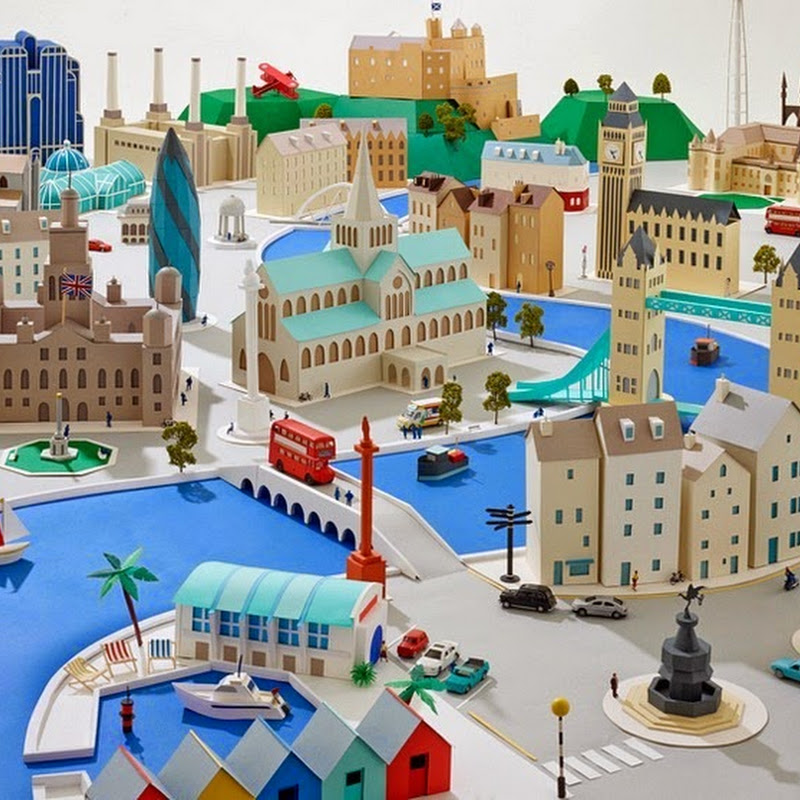 Hattie Newman's Delightful Paper Cities