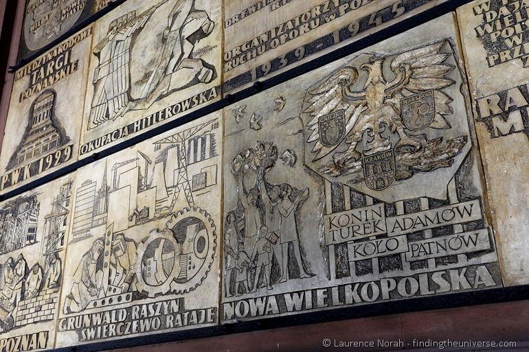 Mural in imperial castle Poznan