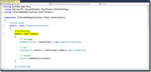 Unit-Test-Written-for-MVC-continuous-integration