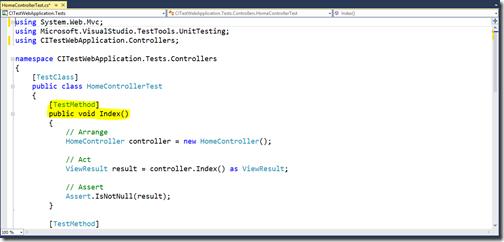 Unit-Test-Written-for-MVC-continuous-integration