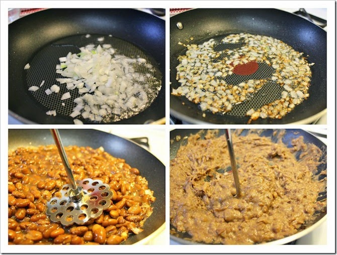 Fried Pinto Beans | Instructions step by step