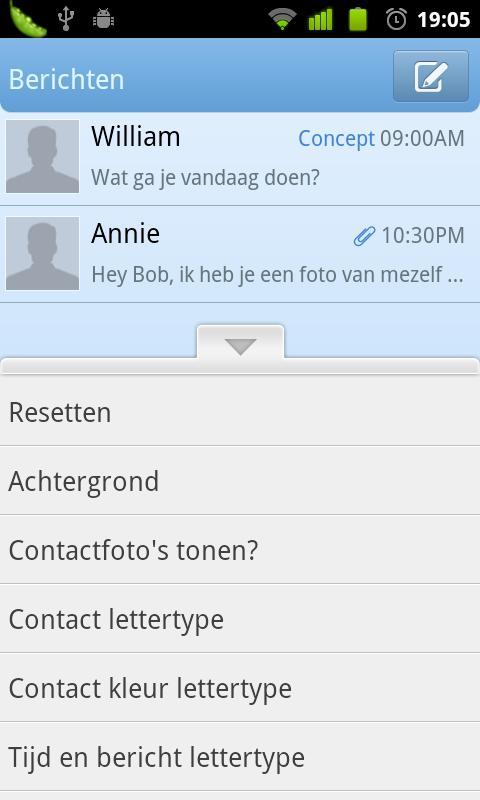 GO SMS Pro Dutch language screenshot #1