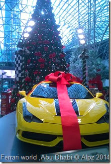 Christmas tree Ferrari world