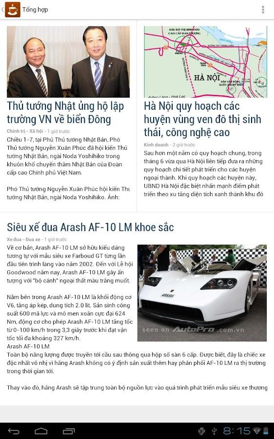 Café - Đọc tin tức Việt - screenshot