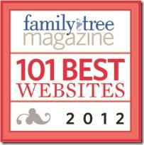 祖先的Insider是2012年的100个最佳家谱网站之一