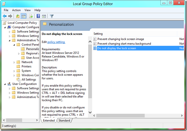 Local policy editor windows 8