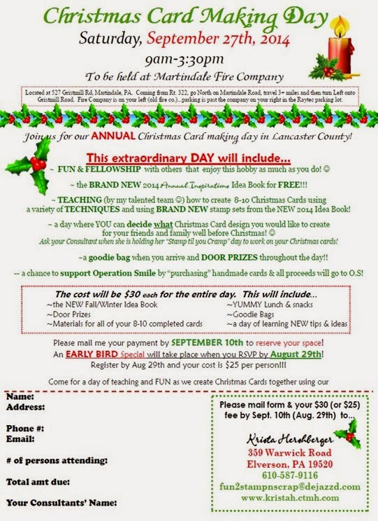 Christmas Cardmaking Day flyer