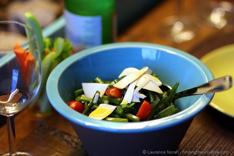 Rocket parmesan and tomato salad