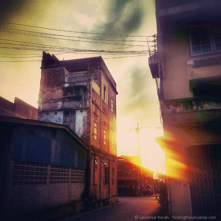Sunset old town Songkhla Thailand