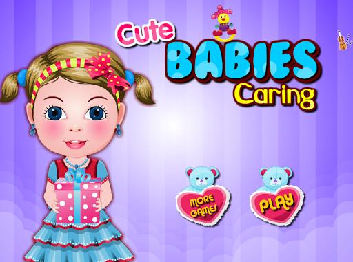 可愛的嬰兒護理的遊戲