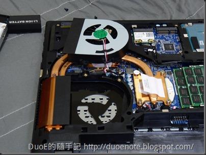 CJSCOPE QX-350HD i7 獨顯筆電-風扇拆解2