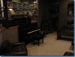 8184 Graceland, Memphis, Tennessee - Racquetball Building lounge -August 16, 1977, Elvis  played this piano and sang Blue Eyes Crying In the Rain. It was his last musical performance