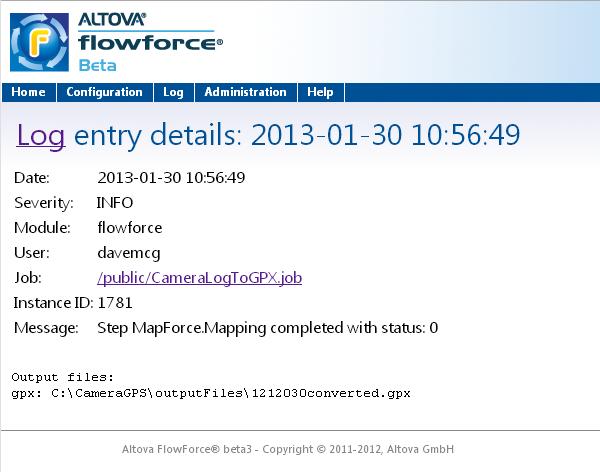 FlowForce job detail