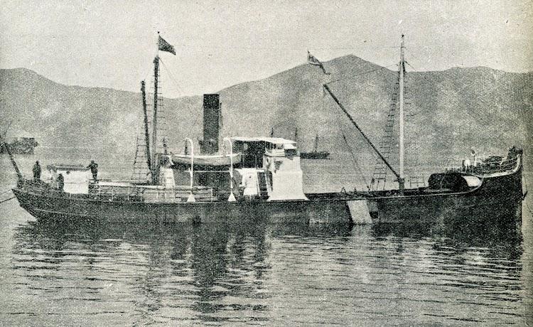 1920. El MINERVA, buque con casco de madera. Foto de la revista CATALUNYA MARITIMA. Agosto de 1920.JPG