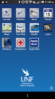 Screenshot of UNF Mobile