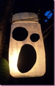 Halloween Ghost jar lantern