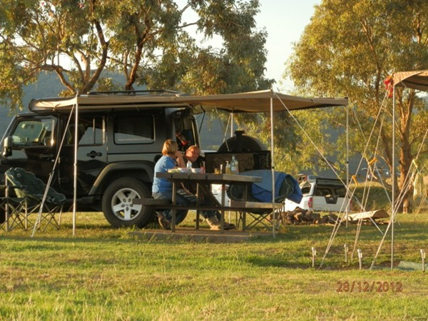 camping at chaffey dam