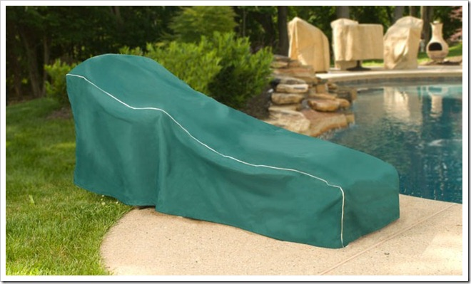 Hunter Green Chaise Lounge Cover