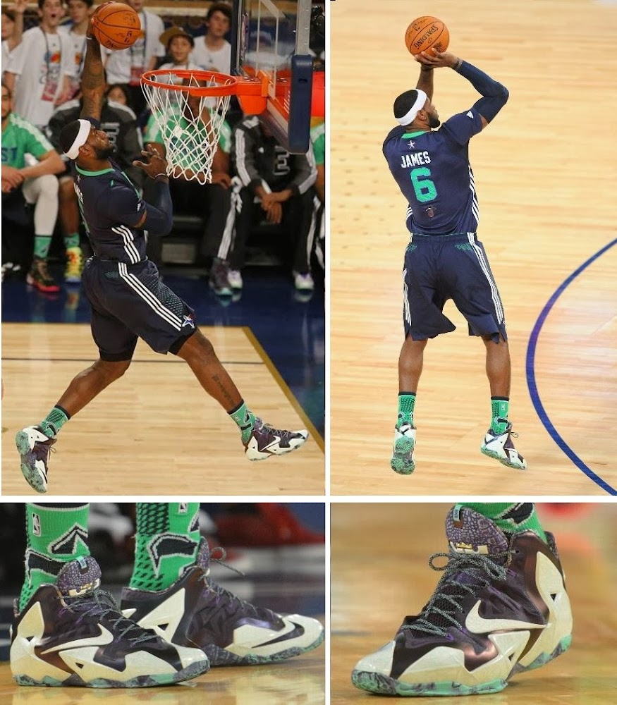 cc11abbce57 Gallery  LBJ Wears Gator King LeBron 11 in 2014 NBA All-Star Game ...