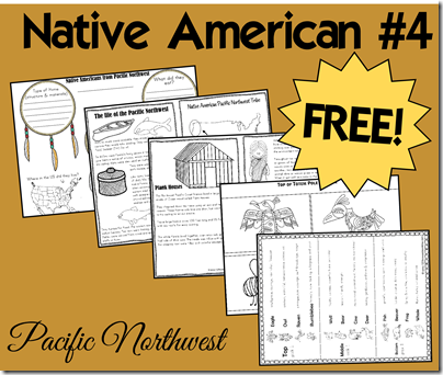 Native Americas - Pacific Northwets includes free printable book, tribe comparisson, and how to make your own totem pole