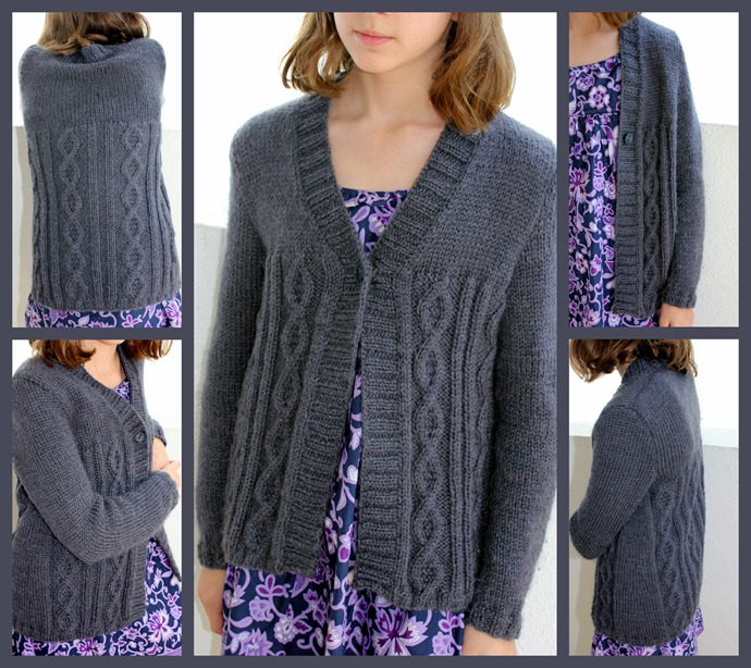 Cable cardi for Juliette