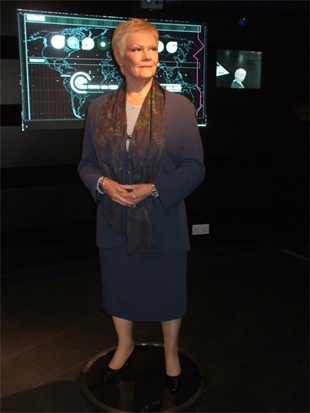 Dame Judi Dench model at Madame Tussauds