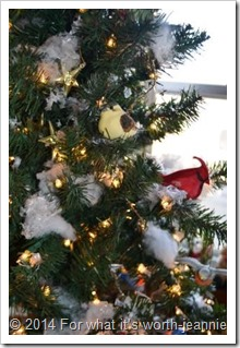 blue birds in christmas tree bird christmas tree - Bird Christmas Tree Decorations