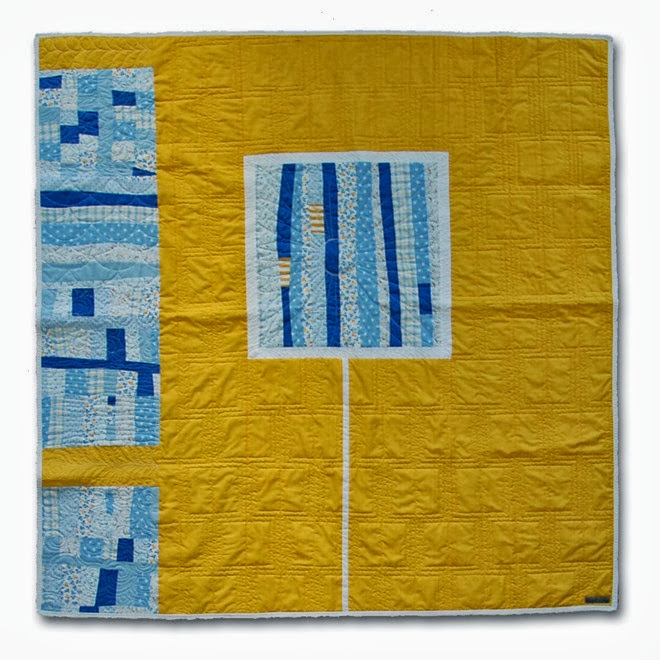 Yellow Improv Quilt