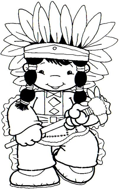 Dibujos De Niños Aborigenes Para Colorear