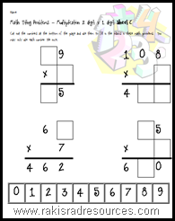 Challenge your students to apply their multiplication facts and properties with these problem solving based tiling puzzles for 2 digit by 1 digit multiplication - free from Raki's Rad Resources.