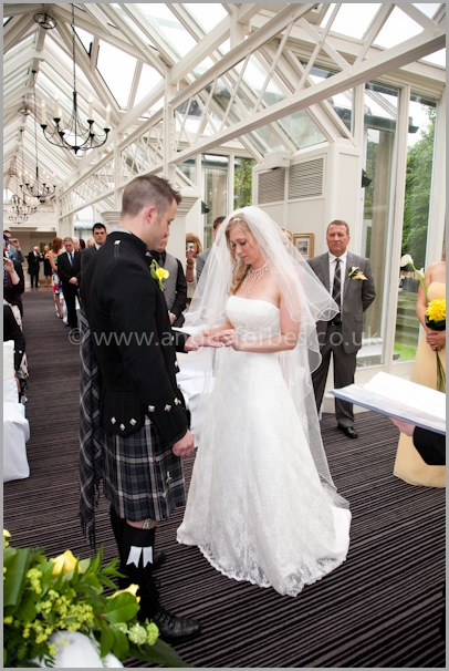 The dry conservatory for weddings at the landmark hotel dundee