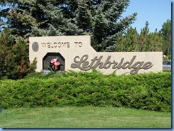 1609 Alberta Lethbridge - Welcome sign at Visitor Centre